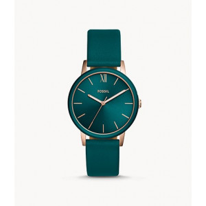 FOSSIL Cambry Three-Hand Teal Leather Watch (BQ3590)