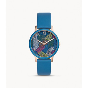 FOSSIL Cambry Three-Hand Blue Leather Watch (BQ3592)