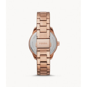 FOSSIL Dayle Three-Hand Date Rose Gold-Tone Stainless Steel Watch (BQ3596)