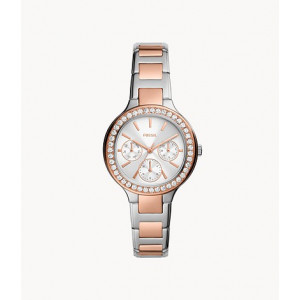 FOSSIL Weslee Multifunction Two-Tone Stainless Steel Watch (BQ3714)