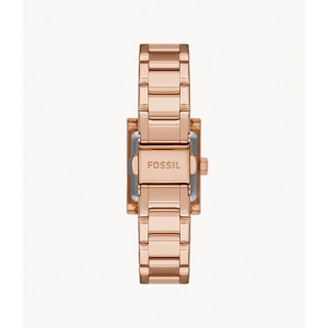 FOSSIL Edan Two-Hand Rose Gold-Tone Stainless Steel Watch (BQ3715)