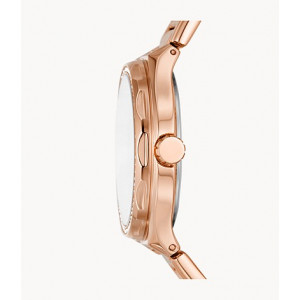 FOSSIL Eevie Multifunction Rose Gold-Tone Stainless Steel Watch (BQ3746)