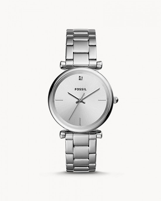 FOSSIL The Carbon Series Three-Hand Stainless Steel Watch (ES4440)