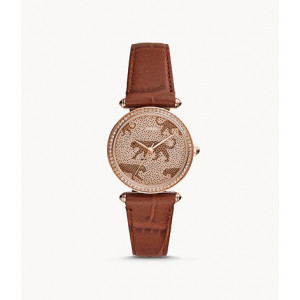 FOSSIL Lyric Three-Hand Brown Leather Watch (ES4683)