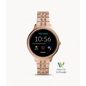 PRE ORDER - FOSSIL Gen 5E Smartwatch Rose Gold-Tone Stainless Steel (ROSEGOLD) FTW6073