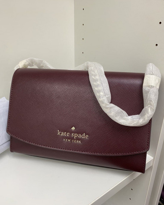 KATE SPADE CARSON CONVIRTIBLE CROSSBODY (CHERRY)