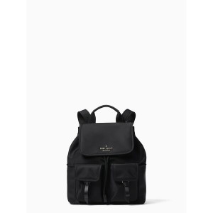 KATE SPADE CARLEY FLAP BACKPACK (BLACK)