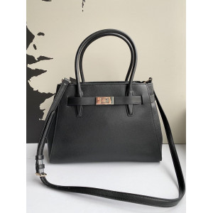 KATE SPADE LUCIA MEDIUM SATCHEL (BLACK)
