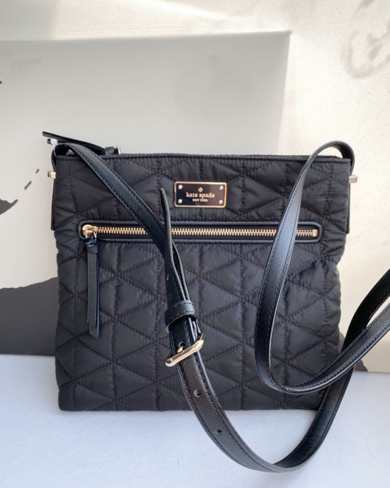KATE SPADE DESSI WILSON ROAD QUILTED (BLACK) - AS IS CLEARANCE