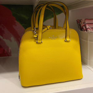 KATE SPADE PATTERSON DRIVE MEDIUM DOME SATCHEL (VIBRANT CANARY)