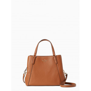 KATE SPADE JACKSON MEDIUM TRIPLE COMPARTMENT SATCHEL (WARM GINGER BREAD)