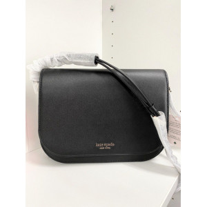 KATE SPADE NADINE MEDIUM FLAP SHOULDER BAG (BLACK)