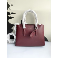 KATE SPADE EVA SMALL TOP ZIP SATCHEL (CHERRY)