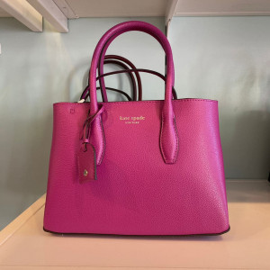 KATE SPADE EVA SMALL TOP ZIP SATCHEL (BAJA ROSE)