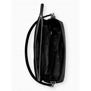 KATE SPADE JACKSON MEDIUM FLAP SHOULDER BAG (BLACK)
