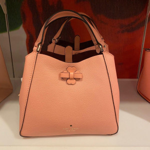 KATE SPADE SMALL TRIPLE COMPARTMENT SATCHEL (PEACHY ROSE)