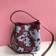KATE SPADE EVA WILD FLOWER BOUQUET SMALL BUCKET (PURPLE MULTI)