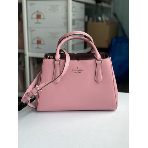 KATE SPADE TIPPY SMALL TRIPLE COMPARTMENT SATCHEL (BRIGHTCARNATION)