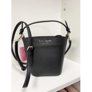KATE SPADE CAMERON SMALL BUCKET BAG (BLACK)