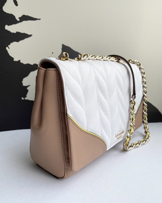 KATE SPADE EMELYN BRIAR LANE QUILTED COLORBLOCK (WHITE DOVE MULTI)