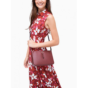 KATE SPADE ADEL MEDIUM TOP ZIP CROSSBODY (CHERRYWOOD)