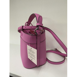 KATE SPADE CAMERON SMALL BUCKET BAG (BRIGHTPEONY)