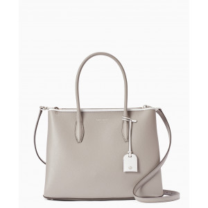 KATE SPADE EVA MEDIUM ZIP TOP SATCHEL (SOFTTAUPE)