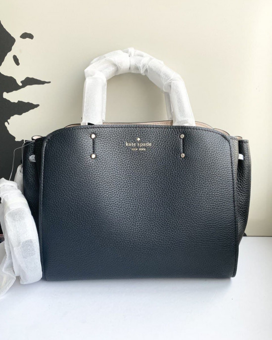 KATE SPADE TEGAN MEDIUM SATCHEL (BLACK)
