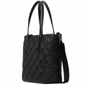 KATE SPADE JAE QUILTED MEDIUM SATCHEL (BLACK)