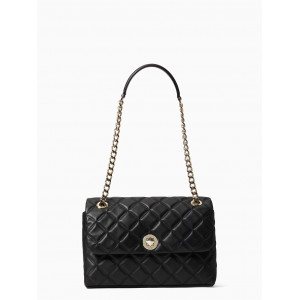 KATE SPADE NATALIA MEDIUM FLAP SHOULDER (BLACK) - ETA (ESTIMATED TIME ARRIVAL) MALAYSIA 27 FEBRUARY
