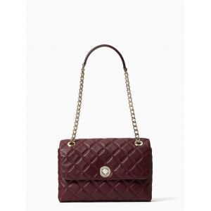 KATE SPADE NATALIA MEDIUM FLAP SHOULDER (CHERRYWOOD)