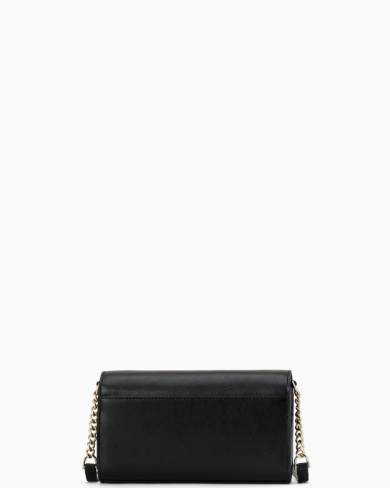 KATE SPADE STACI SMALL FLAP CROSSBODY (BLACK)