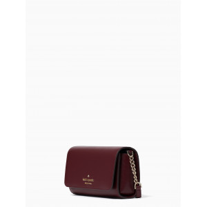 KATE SPADE STACI SMALL FLAP CROSSBODY (CHERRYWOOD)