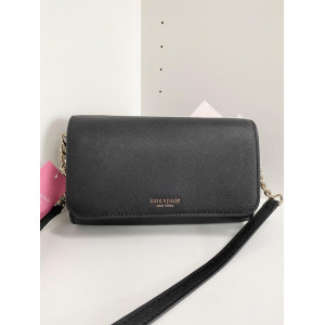 KATE SPADE CAMERON SMALL FLAP CROSSBODY (BLACK)
