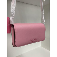 KATE SPADE CAMERON MONOTONE SMALL FLAP CROSSBODY (BRIGHT CARNATION)