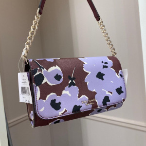 KATE SPADE CAMERON WILDFLOWER BOUQUET SMALL FLAP CROSSBODY (PURPLE MULTI)