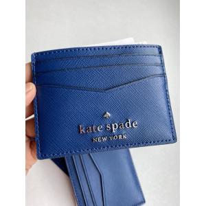 KATE SPADE STACI SMALL SLIM CARD HOLDER (RIVER BLUE)