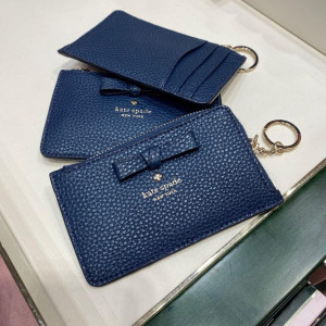 KATE SPADE PERSHING STREET POPPY CARD CASE (PETROL BLUE)