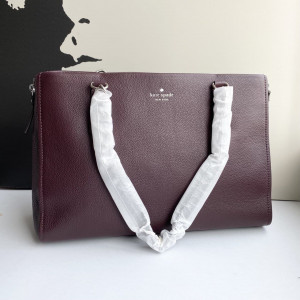 KATE SPADE COBBLE HILL ANDEE TOTE (CHOCOLATE CHERRY