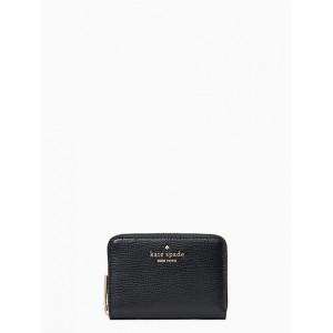 KATE SPADE DARCY SMALL ZIP AROUND CARD CASE WALLET (BLACK)