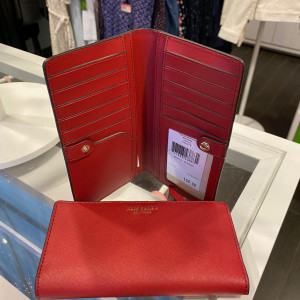 KATE SPADE CAMERON LARGE SLIM BIFOLD WALLET (ROSSO)