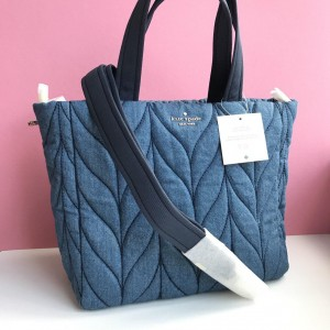 KATE SPADE ELLIE DENIM SMALL TOTE (DENIM)
