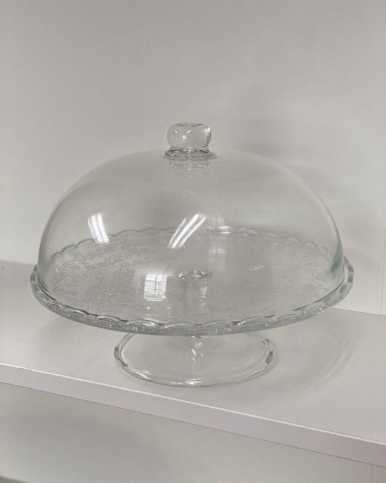 GLASS CAKE PLATE ( SELF PICKUP ONLY)