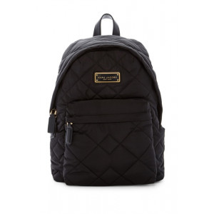 MARC JACOBS QUILTED NYLON BACKPACK  (BLACK)