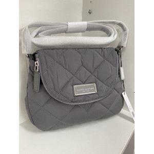 MARC JACBOS MEDIUM QUILTED NYLON (SHADEY GREY)