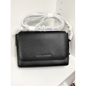 MARC JACOBS THE COMMUTER MEDIUM CROSSBODY BAG (BLACK)