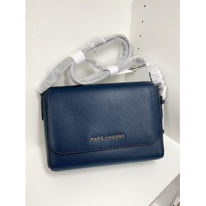 MARC JACOBS THE COMMUTER MEDIUM CROSSBODY BAG (BLUE SEA)