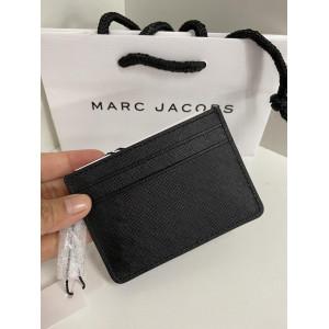 MARC JACOBS SAFFIANO CARD CASE (BLACK)