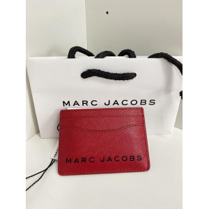 MARC JACOBS SAFFIANO CARD CASE (FIRE RED)