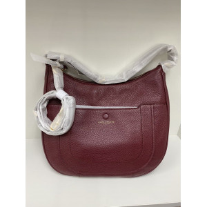 MARC JACOBS EMPIRE CITY LEATHER HOBO CROSSBODY (MULLED WINE)